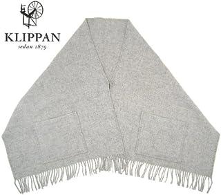 (クリッパン KLIPPAN) ストール (ボタン・ポケット付) ライトグレー ベーシックウール