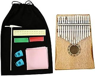 REFURBISHHOUSE 17 Teclas Kalimba Caoba Africana Pulgar Dedo Piano Sanza Mbira Calimba Tocar con Guitarra Instrumentos Musicales de Madera
