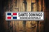 YelenaSign - Cartel de Recuerdo de la República Dominicana con la Bandera de la República Dominicana, 20 x 30 cm