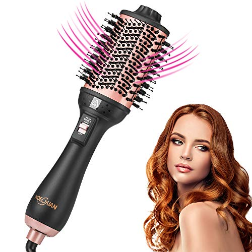 Hair Dryer Brush, Hair Dryer And Volumizer Hot Air Brush 5-In-1 Air Hair Brush, Straightening,Curling, Negative Ion Ceramic for Home, Travel and Salon