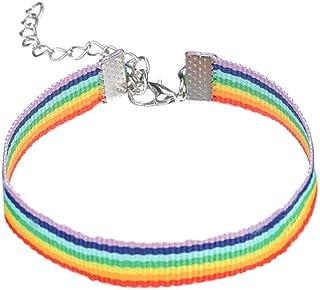 Niome Rainbow Adjustable Bracelet Vintage Rope Charm Bracelet with Lobster Clasp Colorful Friendship Chain Love Bracelets