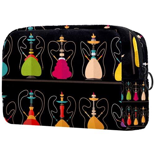 KAMEARI Bolsa de cosméticos cachimba Nargile Shissha patrón grande cosmético organizador bolsas de viaje multifuncional