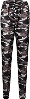 DressU Women's Movet Empire Waist Regular-Fit Camouflage Silm Fit Pencil Trousers