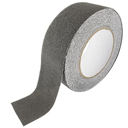 SeKi Cinta adhesiva antideslizante gris, 50 mm x 10 m, cinta de seguridad antideslizante para escaleras, peldaños, azulejos, rampas, escaleras o el suelo; cinta antideslizante autoadhesiva