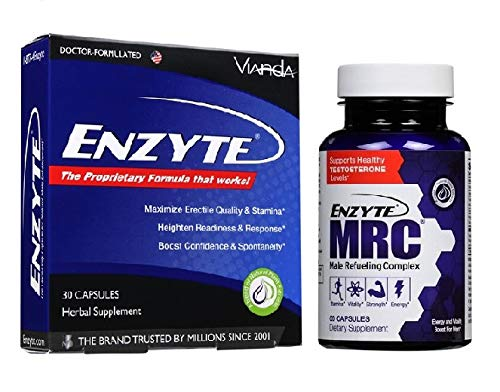 Enzyte® & Enzyte MRC® Men's Wellness Combo with Asian Ginseng, Ginkgo Biloba, Grape Seed Extract, Horny Goat Weed, Fenugreek, Rhodiola, Vitamin D3-1 Month Supply Each (1)