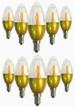 Led Bulbs, E12 LED Crystal Light Bulb / 5W, Equivalent 50W, 450-500LM 3000K/6000K COB Clear Crystal Non Dimmable/Pack of 1...