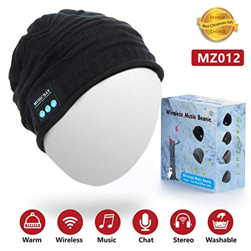 51wRaQgvQ4L - HighTechLife Upgraded Wireless Bluetooth Beanie Hat Headphones V4.2 Unique Christmas Tech Gifts for Men/Dad/Women/Mom/Teen Boys/Girls Stocking Stuffer w/Built-in HD Stereo Speakers & Microphone
