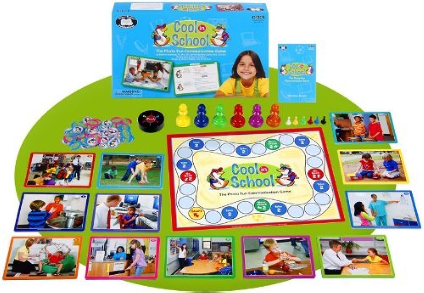 コンプライアンスファンネルウェブスパイダー図Cool in School Electronic Spinner Board Game - Super Duper Educational Learning Toy for Kids - Autism Awareness Month Special [並行輸入品]