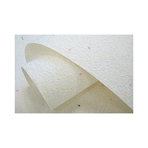 naraon Hanji traditionellem koreanischen Mulberry Papier Hanji Rolle inkl. ABACA Fasern Tricolor Spot natur weiß 136,9x 730cm