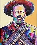 IFUNEW Lona Pared Arte Pancho Villa Art Poster Room Pintura Decorativa 60x90cm