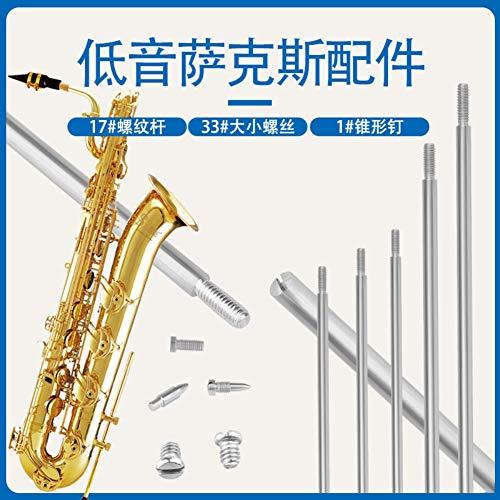 AKDSteel Reparatur-Set für Bass-Saxophon, Schrauben, Gewindestifte, konische Nägel, Musikinstrumente