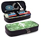 Lawenp Alta capacidad Animal Sign Leather 3D Nanotechnology Printed Pencil Case Pouch Zippered Pen Box School Supply for Students,Big Capacity Stationery Box for Girls Boys and Adults