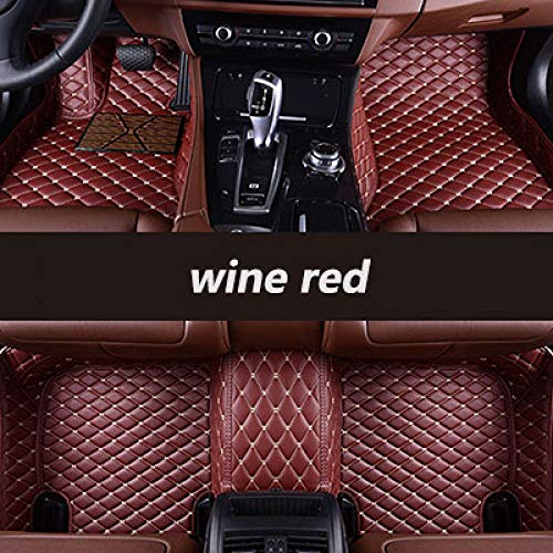 YJLOVK para un para Alfombrillas de Coche Personalizadas para Chana Todos los Modelos CS35 Alsvin Benni CX20 CX30 CS95 CS55 CS75 CS15 Accesorios de Estilo automático, Rojo Vino