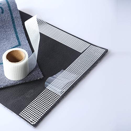 LILENO HOME Anti Rutsch Teppichunterlage als Klebestreifen 1x Rolle (5 cm x 500 cm) - hochwertige Teppich Antirutsch Stopper für alle Unterlagen u. Böden - Teppichstopper für sicheres Zuhause