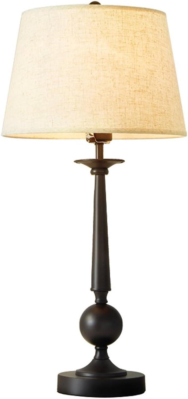 Amerikanischer Tischlampe Wohnzimmer schmiedeeiserne schmiedeeiserne schmiedeeiserne Nachttischlampe Studie kreative Tuch Lampe B07D9QSCMZ     | Hohe Qualität und geringer Aufwand  2ad847
