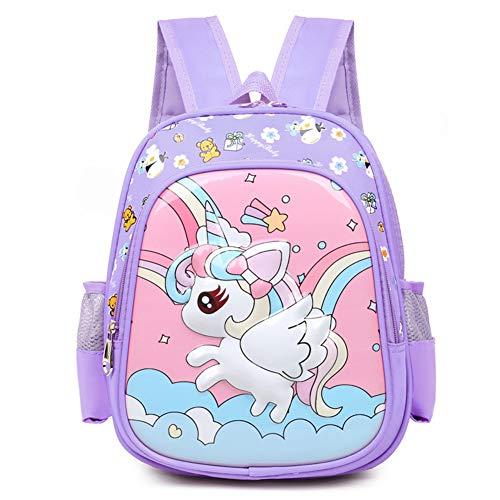 Mochila Unicornio Infantil JPYH Niña Mochilas Infantiles Escolar Guarderia Colegio Backpack