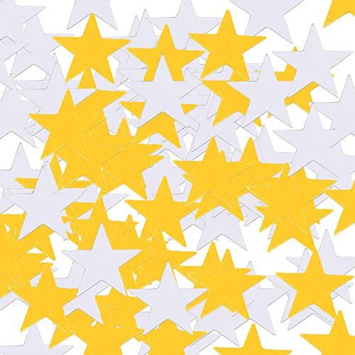 Konfetti Glitter, 4000 Packungen 30g Kunststoff Sterne Konfetti Glitzer Pailletten für DIY Nailart und Weihnachten Party Supplies Gold und Silber