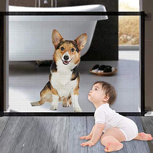 Puerta Mágica para Perros,Barrera Seguridad Perros,Puerta de Seguridad para Mascotas,Puerta mágica para Mascotas,Puerta Plegable Portátil para Mascotas Interior Y Exterior de Seguridad para Perros
