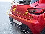 Couvercle de coffre arrière pour Renault Clio IV 4 HB 2012-2018 en acier inoxydable chromé 4 portes (rouge)