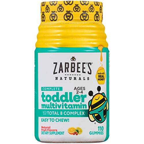 Zarbee's Naturals Complete Toddler Multivitamin, Natural Fruit Flavors, 110 Gummies