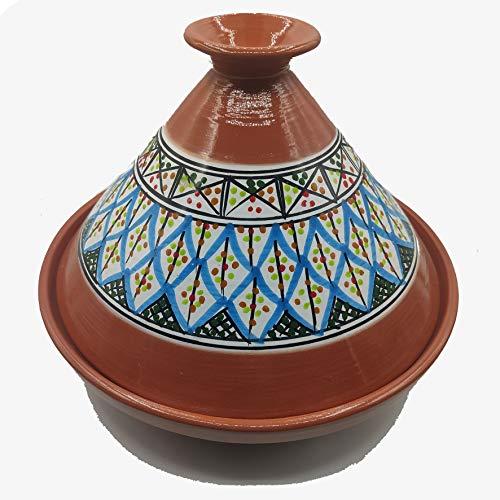 Tajine Pentola Terracotta Piatto Etnico Marocchino Tunisino XL 32cm 2910201102
