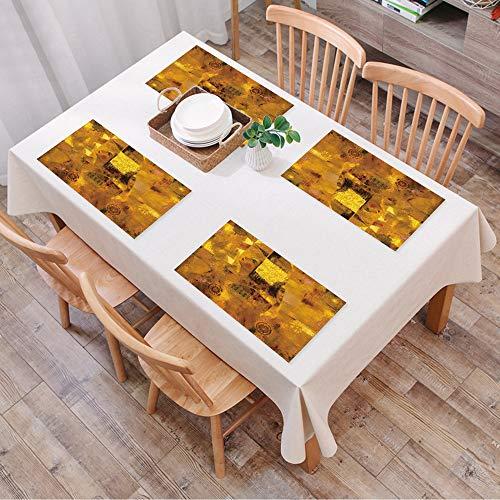Set de Table Antidérapant Lavable Résiste à la Chaleur Rectangulaire Sets de Table pour Restaurant,Art, Femme d'époque avec effets de ré,Table à Manger en Cuisine ou Salle à Manger, 45x30 cm Lot de 4