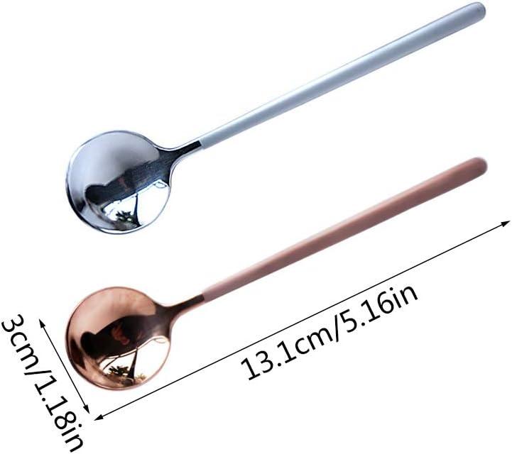 Lot de 2 cuill/ères /à caf/é /à long manche en acier inoxydable 13 cm.