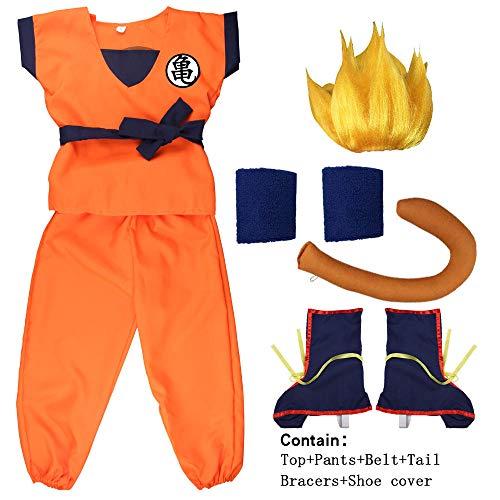 Halloween Dragon Ball Z Son Goku Turtle senRu peluca zapatos Cosplay disfraz niños disfraz adulto para niños fiesta uniforme vestido año nuevo