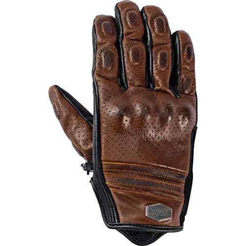 Spirit Motors Motorradhandschuhe kurz Motorrad Handschuh Lederhandschuh, gelocht 1.0 braun 10,5, Herren, Chopper/Cruiser, Sommer