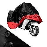 Housse Protection/BACHE Moto Velo/Scooter Taille XXL Rouge Noir 270cm*145cm*125cm Resistant