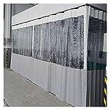 KUAIE Tenda per Giunzioni in PVC Telone Trasparente con Occhielli Anti-UV per Giardino Gazebo Tende da Giardino, Grigio Chiaro, 44 Taglie (Color : Clear Gray, Size : 1.2x1.8m)