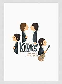 """Stampa"""" The Kinks"""". Disponibile in due misure: A4 / A3."""