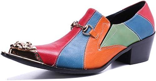 XWDQ Chaussures Chaussures d'affaires pour Homme,De Marée Basse en Cuir De Marque Décontractée Chaussures Simples Chaussures Hommes,38  magasin en ligne