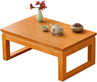 Table Solid Wood Coffee Tatami Coffee Low Chinese Zen Balcony Bay Window Chinese Zen Tea (Size : 50x40x25cm)