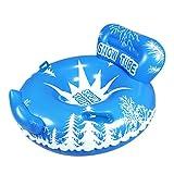 Esquí inflable, círculo, tubos de nieve, tablero circular con asa, diseño reclinable, PVC redondo, r...