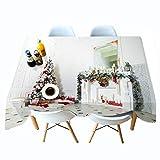 Shadow Mantel Gris Beige Natural Navidad Mantel Impreso en 3D cabaña Mantel de Personalidad de Navidad Mantel de Personalidad Colgante de Tela 178x178cm