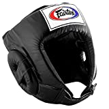 Fairtex HG1 Competition Head Guard, Equipment Headgear Muai Thai, Head Guard Thai Boxing, Helmet MMA, Headguards Kickboxing, Head Protection Headpiece, Super Sparring (Black, Large)