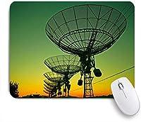 Yaoni ゲーミング マウスパッド,シルエット空電波衛星望遠鏡天文学天文台科学機器,マウスパッド レーザー&光学マウス対応 マウスパッド おしゃれ ゲームおよびオフィス用 滑り止め 防水 PC ラップトップ