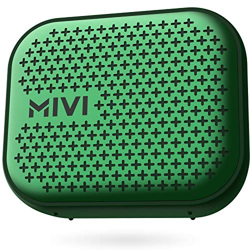 Mivi Roam 2 Wireless Bluetooth Speaker 5W, Portable Speaker with Studio Quality Sound, Powerful Bass, 24 Hours Playtime, Waterproof, Bluetooth 5.0 and in-Built Mic with Voice Assistance-Green