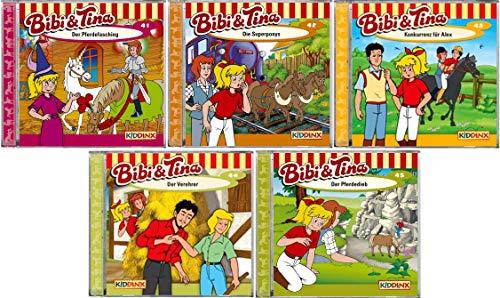 Bibi & Tina - Hörspiel zur Zeichentrick TV - Serie CD 41-45 im Set - Deutsche Originalware [5 CDs]