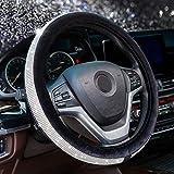 Alusbell Crystal Diamond Steering Wheel Cover Soft Velvet Feel...