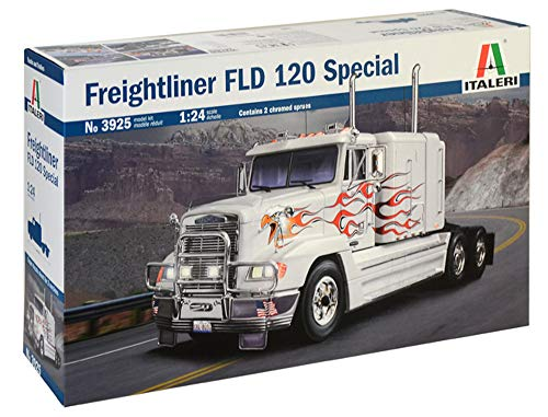 ITALERI 3925S - 1:24 Freightliner FLD 120 (Classic) , Modellbau, Bausatz, Standmodellbau, Basteln, Hobby, Kleben, Plastikbausatz, detailgetreu