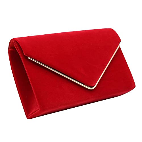 8f4a109ab4bc3 Wocharm Brand New Luxury Womens Ladies Pleated Suede velvet Clutch Bag  Handbag Bridal Evening Prom Party