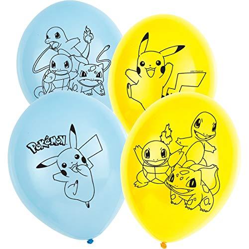 Amakando 6 balones de Aire Anime Pokémon / 28cm/11 / Globos Decorativos Monstruos de Bolsillo Fiestas Infantiles y Fiestas de cumpleaños