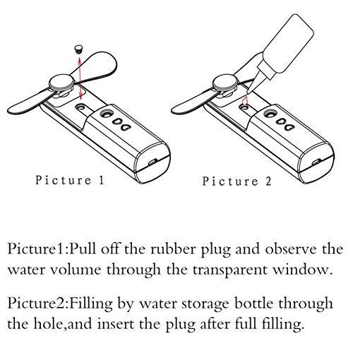 Nano Pulvérisateur Visage, Visage de poche Cool Mist USB Nanometer Atomizer Portable Facial Hydrating Spraying Machine with Fan(vert)