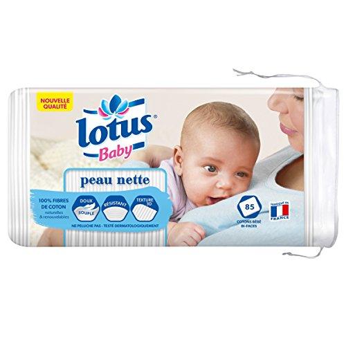 Lotus Baby Cotons bébé bi-faces peau nette - Le paquet de 85
