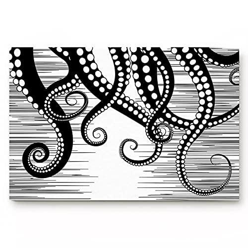 DQLREW Alfombrilla Puerta impresión 3D Felpudo Felpudo con Bigotes de Pulpo Felpudo para Dormitorio Cocina baño Alfombra Antideslizante Felpudo para el hogar para Puerta de entrada-24x36inch