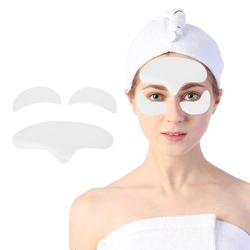 怖がらせる危機と闘う顔用アンチリンクルパッド、顔面および目の皮膚を持ち上げて引き締めるための再利用可能なシリコーン肌のリラクゼーションパッチ