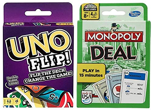 Uno Flip! and Monopoly Deal 2-Pack