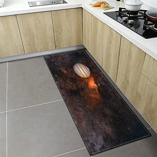 Alfombrilla de cocina con estampado de cielo estrellado, alfombra de la puerta de entrada de la decoración de la sala de estar del dormitorio del hogar, alfombra antideslizante del baño A3 60x180cm